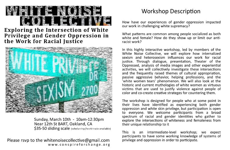 Intersection Workshop Flier